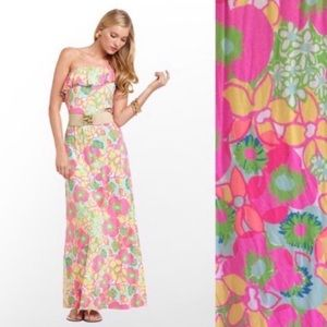 Lilly Pullitzer Marley maxi off the shoulder dress